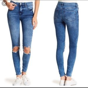 Free People NWT busted knee high waist skinny jean